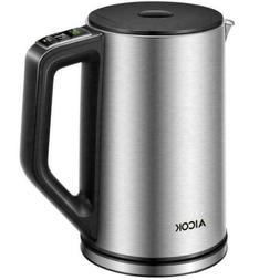 Aicok 1.7L Electric Kettle Coffee Hot Water Maker Cordless T