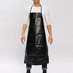 1 pc Cooking Leather Chef Apron Waterproof Restaurant Bib Ap