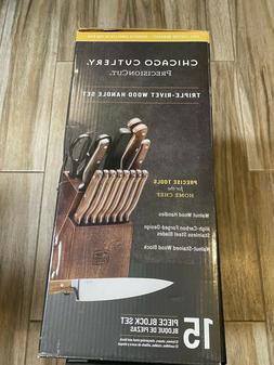 Chicago Cutlery 1134513 Precision Cut Kitchen Knife Set BRAN