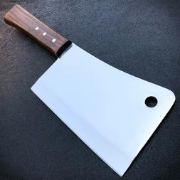 "12"" MEAT CLEAVER CHEF BUTCHER KNIFE Stainless Steel Full Tan"