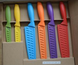 12-Piece AmazonBasics Colored Kitchen Knife Set Free Shippin