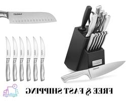 Cuisinart 15-Piece Artiste Collection Kitchen Knife Set Bloc