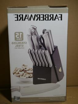 Farberware 15 Piece knives Stamped Stainless Steel Cutlery S