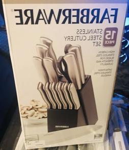 Farberware 15 Piece Stainless Steel Cutlery Set  - 14 knives