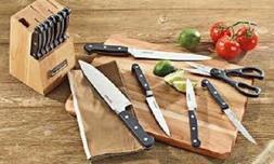 15 piece triple rivet block cutlery set