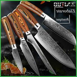 2020 Damascus Kitchen Knives vg10 Japanese Damascus Steel Ki