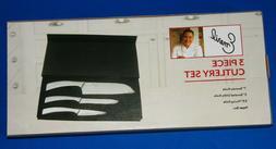 3 Piece Emeril Cutlery Set Kitchen Knives Santoku Serrated U