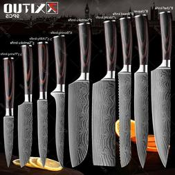 3 Piece Kitchen Knife Set Stainless Steel Japanese Damascus