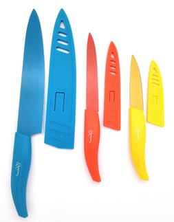 3 Pieces Kitchen Knife Set With Sheath,8,5,3.5 Inches Blade