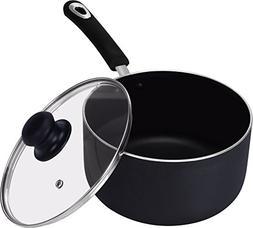 Utopia Kitchen 3 Quart Premium Aluminum Alloy Saucepan with
