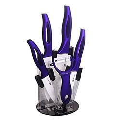 XYJ 3, 4, 5, 6 Inch Ceramic Knife Set + Knife Holder + Peele