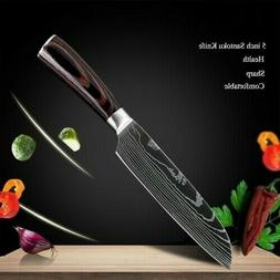 5'' Kitchen Chef Santoku Knife High Carbon Stainless Steel D