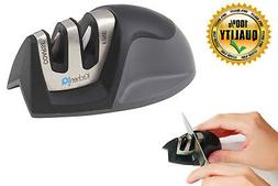KitchenIQ 50009 Edge Grip 2 Stage Knife Sharpener, Black FRE