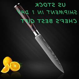 5inch Kitchen Utility Knife Damascus Steel StainlessSteel Kn
