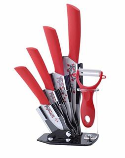 Tim Home 5 Pieces Ceramic Cutlery Kitchen Knives with Fruit