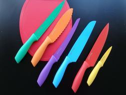Utopia Kitchen 6-piece non-stick color knife set NEW in box