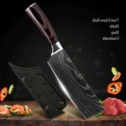 7'' Kitchen Cleaver Knife Chef Knife Stainless Steel Japanes
