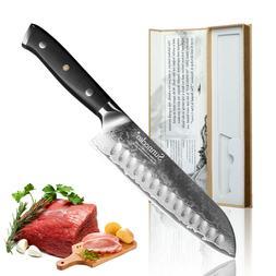 7 Inch Damascus Steel Chef's Santoku Knife Japanese VG Blade