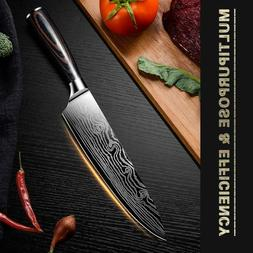 7 inch Chef Knife Stainless Steel Meat Kitchen Santoku Knife
