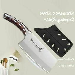 7' Inch Stainless Steel Kitchen Chopping Knife Meat Cleaver