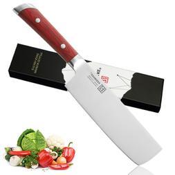 7 Inch Nakiri Chef's Knife German Steel Vegetable Kitchen Kn