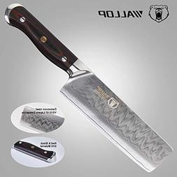 7'Japanese Damascus Usuba - Nakiri Knife with 67 Layers Dama