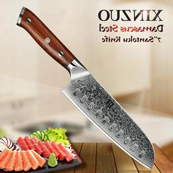 SantokuKnife 7 inchDamascus steel Kitchen Knives vegetable c