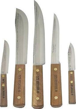 NEW OLD HICKORY 705 USA 5 PIECE KITCHEN KNIFE SET CUTLERY NE