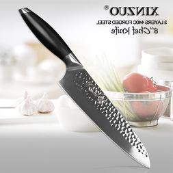 XINZUO 8'' Chef Knife3 Layer 440C Core Clad Steel <font><b>K