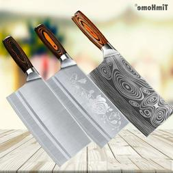 Timhome 8 Inch Stainless Steel Meat Chopper Butcher Knife Ki