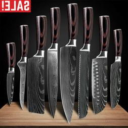 Chef Knives Sets Kitchen Knife Damascus Pattern Stainless St