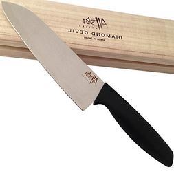 """AllStar Knives - Premium Stainless & Sharp Japanese 7"""" Santo"""