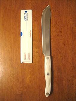 "CUTCO Model 1722 Butcher Knife with White ""Pearl"" handle...."