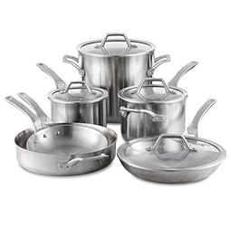 Calphalon Signature Stainless Steel Cookware Set, 10-piece,