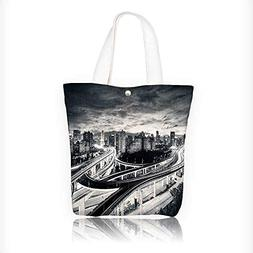 Canvas Tote Bag Scenery Landscape of Sunset in Shanghai City