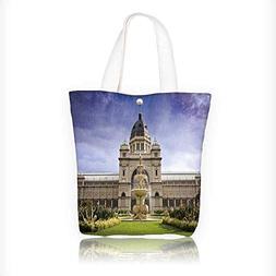 Canvas Tote Bag royal exhibition build behind carlton garden