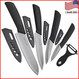 "Blade Sharp Ceramic knife Set Kitchen Knives 3"" 4"" 5"" 6"" + P"