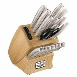 Chicago Cutlery 18-Piece Insignia Steel Knife Set with Block