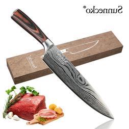 Damascus Pattern Chef Knife 8 inch Kitchen Knives Slicing Kn