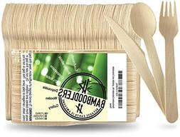 Disposable Wooden Cutlery set by Bamboodlers | 100% All-Natu