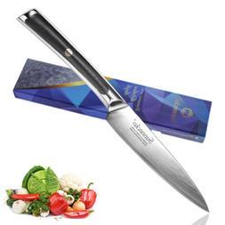 Elite Utility Knife 5 inch Damascus Steel Kitchen Knives Veg