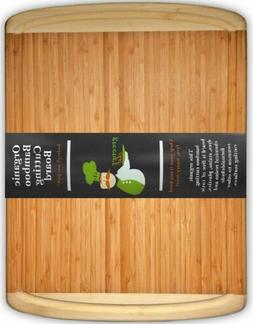 Extra Large Organic Bamboo Cutting Board for Kitchen - NEW C