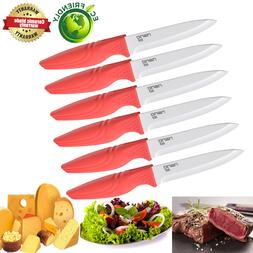 Extremely Sharp Steak Knives Set of 6 Ceramic Knife for Camp