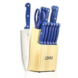 Ginsu 04817PBDS 14 Piece Essential Series Cutlery Set in Nat
