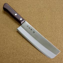 "Japanese Sakai Kitchen Nakiri Vegetable Knife 6.3"" Lightweig"
