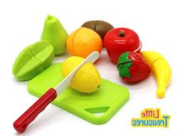 Little Treasures Cutting Fruit Set Chopping Board and Toy Fr