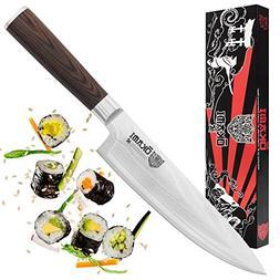 "Okami Knives CHEF KNIFE 8"" Japanese Damascus Stainless Steel"