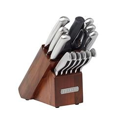 Sabatier 15-Piece Stainless Steel Hollow Handle Knife Block