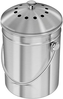 Utopia Kitchen Stainless Steel Compost Bin for Kitchen Count
