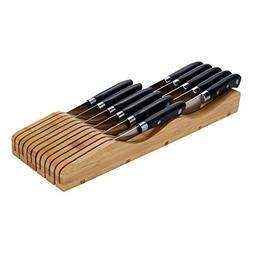 Utoplike in-Drawer Bamboo Knife Block Knife Drawer Storage a